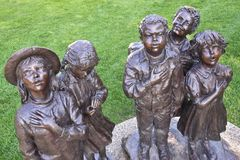 Pledging in Holland, Michigan. Goodacre sculpture depicts diversity and union Royalty Free Stock Photo