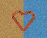 Plegable un corazón de papel Foto de archivo libre de regalías