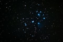 Pleiades. The Pleiades as seen from Mannheim in Germany Royalty Free Stock Images