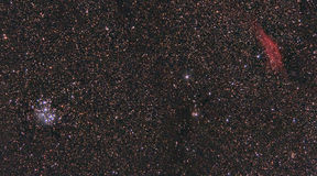 Pleiades Kalifornia mgławica Obrazy Stock