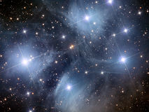Pleiades M45 illustration stock