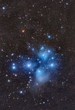 The Pleiades - Seven Sisters. LRGB 2 panel mosaic of the Seven Sisters Stock Image