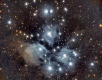 The pleiades, seven sisters stock images
