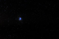 The Pleiades. Or Seven Sisters star cluster also known as M45 Royalty Free Stock Photography