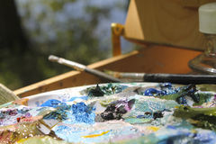 Plein Air Royalty Free Stock Photos