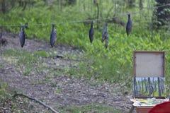 Plein air outdoors Stock Photo