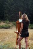 Plein Air Painter royalty free stock photos