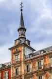 Plein Burgemeester Steeple Cityscape Madrid Spanje Royalty-vrije Stock Foto