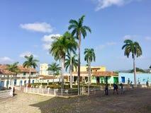 Plein Burgemeester Trinidad Cuba stock foto