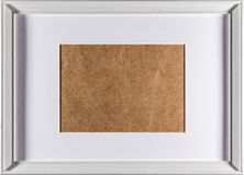 Plein cadre de cadre en bois blanc Image stock