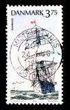 ` Plein-calé 1933, serie du Danemark de ` de bateau de bateaux de formation, vers 1993 Image libre de droits