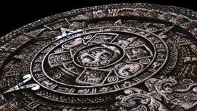 Plein calendrier maya en pierre de perspective Image libre de droits