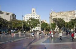 Plein Catalunya, Barcelona, Spanje Stock Afbeelding