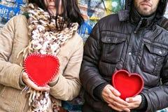 Plein coeur et coeur vide Image libre de droits