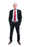 Plein corps d'homme d'affaires avec des mains dans des poches Photos stock