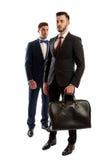 Plein corps de deux hommes d'affaires Photos stock