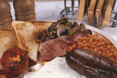 Plein déjeuner anglais Images libres de droits