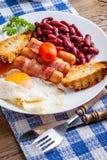 Plein déjeuner anglais images stock
