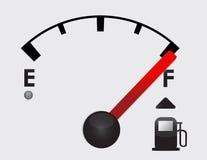 Plein détail de réservoir de gaz Image libre de droits