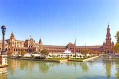 Plein DE espana Sevilla, Andalusia, Spanje, Europa Stock Foto's