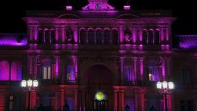 Plein 25 DE Mayo in Buenos aires bij nacht Royalty-vrije Stock Afbeelding