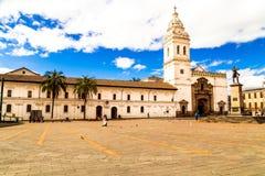 Plein DE Santo Domingo Quito Ecuador South America royalty-vrije stock afbeeldingen