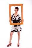 plein femme de pose de kimono de fixation de châssis Photo libre de droits