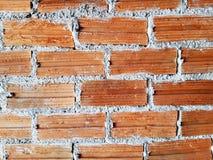 Plein fond de cadre de mur de briques nu photographie stock libre de droits