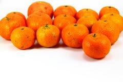 Plein fruit de mandarine orange photographie stock
