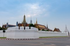 Plein nom officiel Wat Phra Si Rattana Satsadaram de Wat Phra Kaew Photo stock