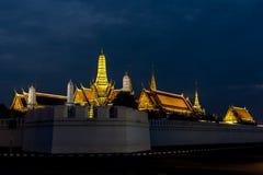 Plein nom officiel Wat Phra Si Rattana Satsadaram de Wat Phra Kaew Images libres de droits