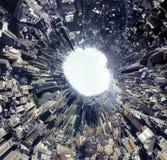 Plein panorama de cirlcel : Manhattan Images libres de droits