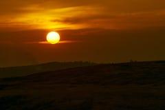 Plein paysage de coucher du soleil Images libres de droits