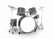 Plein tambour réglé avec des cymbales Photographie stock libre de droits