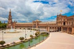 Plein van Spanje Plaza DE Espana, Sevilla, Andalusia, Spanje Royalty-vrije Stock Foto
