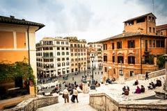 Plein van Spanje in Rome Stock Afbeeldingen