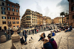 Plein van Spanje in Rome Royalty-vrije Stock Afbeeldingen