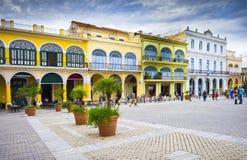 Plein Vieja, Oud Havana, Cuba Royalty-vrije Stock Foto's