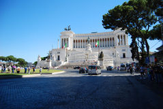 plein Vittorio Emanuele II monument - Rome Stock Foto's