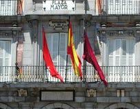 Pleinburgemeester, een centraal vierkant in Madrid, Spanje royalty-vrije stock foto