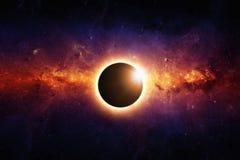 Pleine éclipse Photographie stock