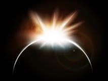 Pleine éclipse solaire illustration de vecteur
