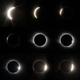 Pleine éclipse solaire Images libres de droits