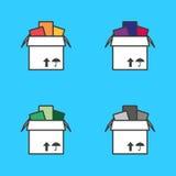 Pleine boîte en carton Photos libres de droits