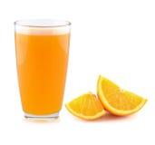 Pleine glace de jus d'orange Images libres de droits