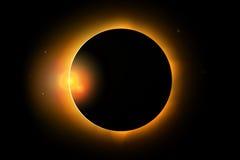 Pleine illustration de phénomène d'éclipse solaire Images libres de droits