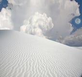 Pleine lune aux sables blancs Images libres de droits
