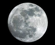 Pleine lune avec le ciel noir photographie stock libre de droits
