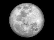 Pleine lune dans le ciel la nuit Images libres de droits