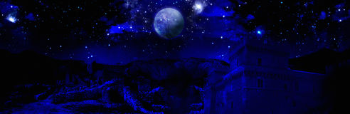 Pleine lune de nuit foncée Image stock